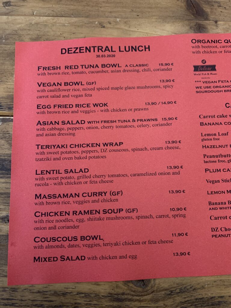 Tuesdays specials, Dezentral Marbella
