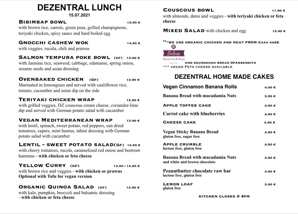 Thursday lunchtime, Dezentral Marbella