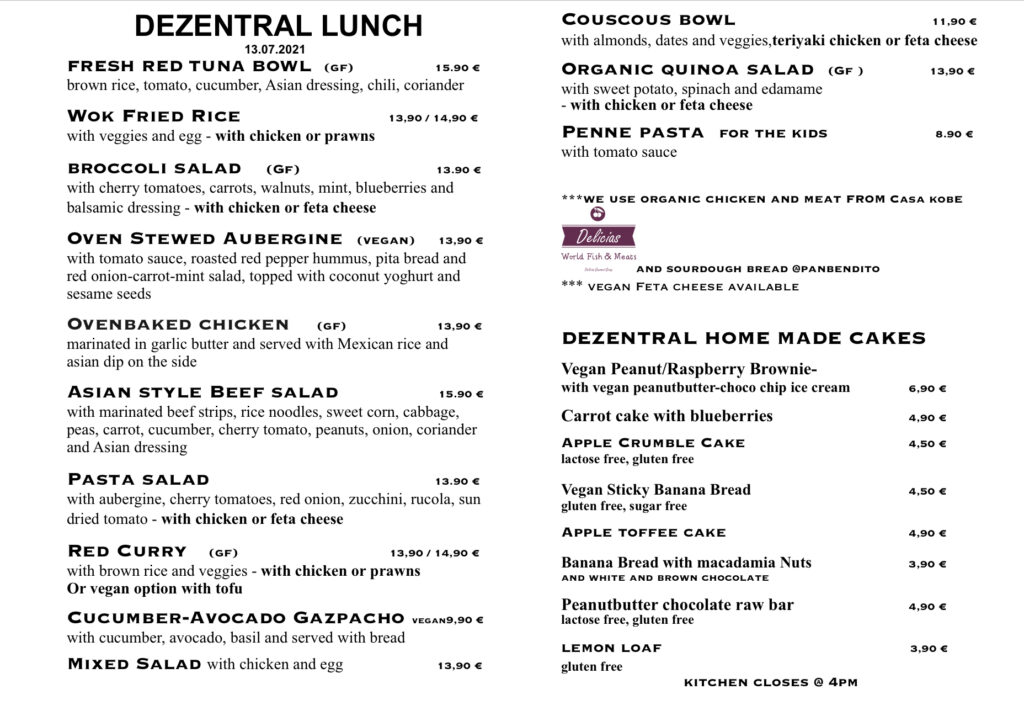 Tuesday lunch, Dezentral Marbella