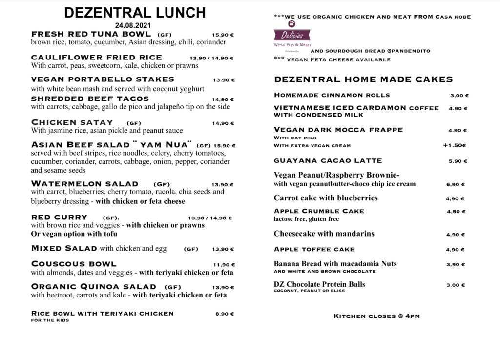 Lunchtime🍴, Dezentral Marbella