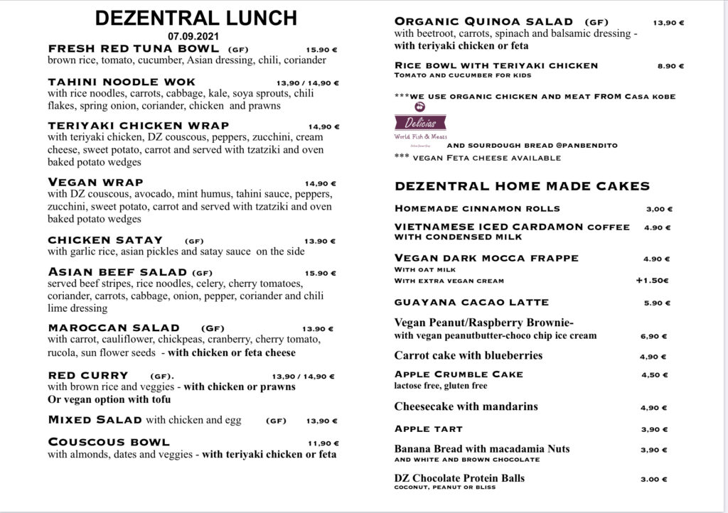Our specials for today✌️, Dezentral Marbella