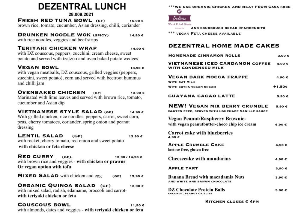 Tuesday lunch is ready, Dezentral Marbella