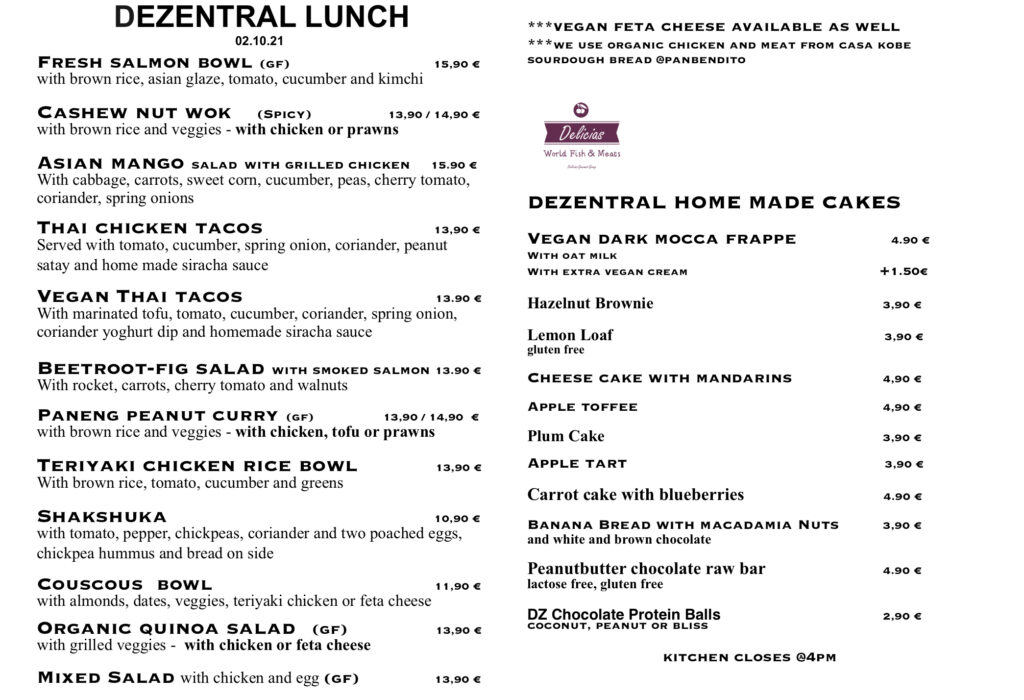 Lunch is ready, Dezentral Marbella